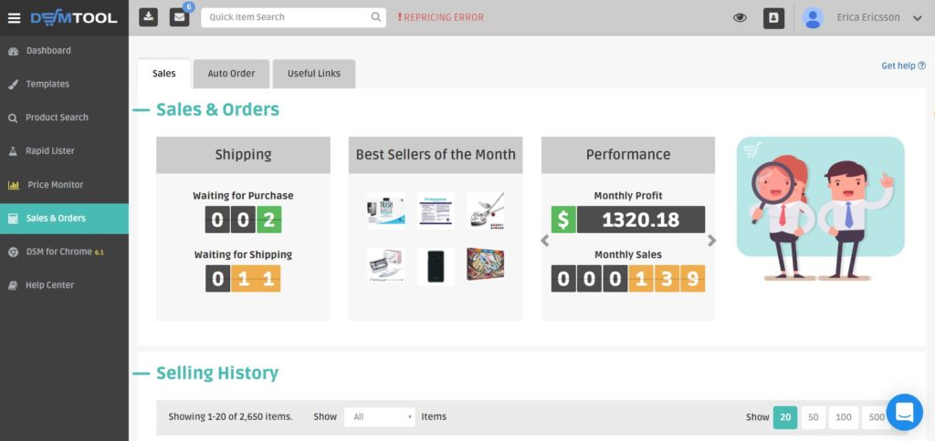 dsm tool software for dropshipping